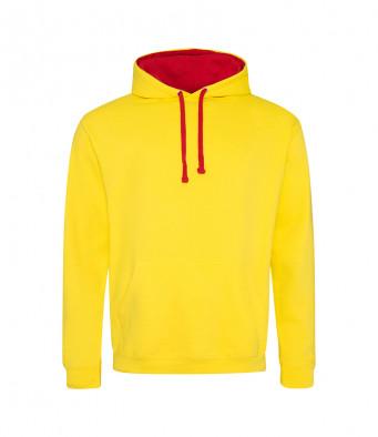 sunyellow firered contrast hoodies