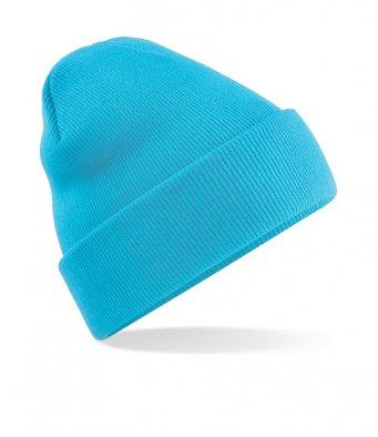 surf blue cuffed beanie