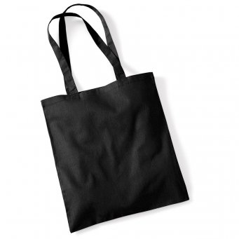 tote bag long handles black