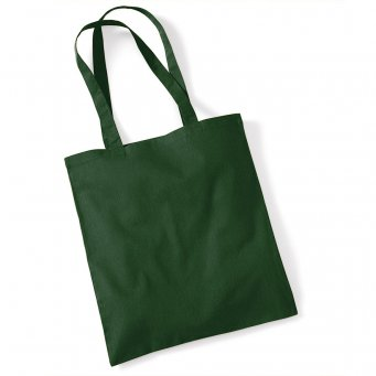 tote bag long handles bottlegreen