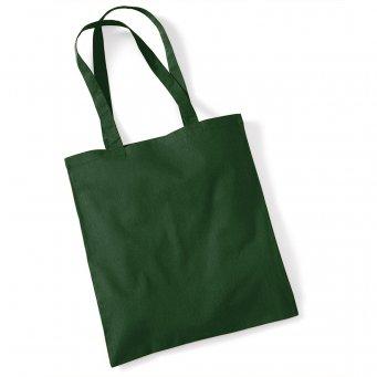 tote bag long handles bottlegreen