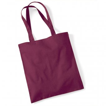 tote bag long handles burgundy