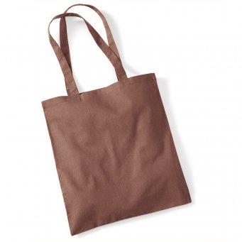 tote bag long handles chestnut