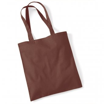tote bag long handles chocolate