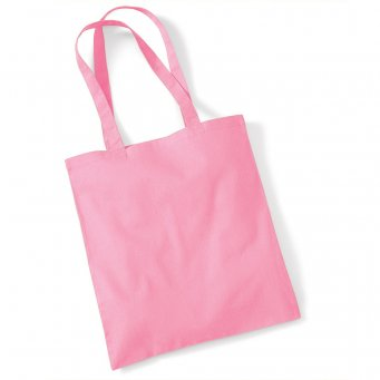 tote bag long handles classic pink