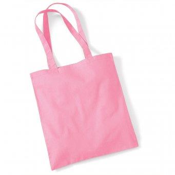 tote bag long handles classic pink