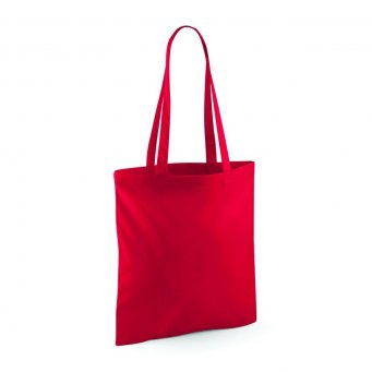 tote bag long handles classic red