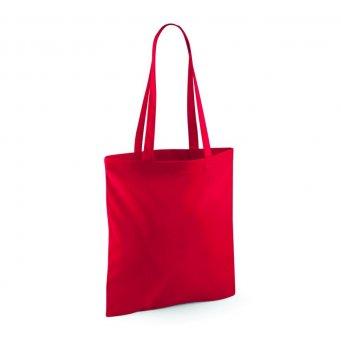 tote bag long handles classic red