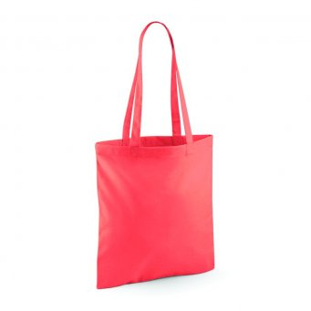 tote bag long handles coral