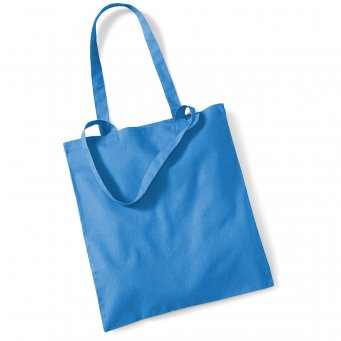 tote bag long handles cornflower