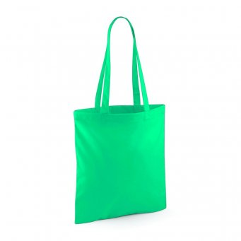 tote bag long handles emerald