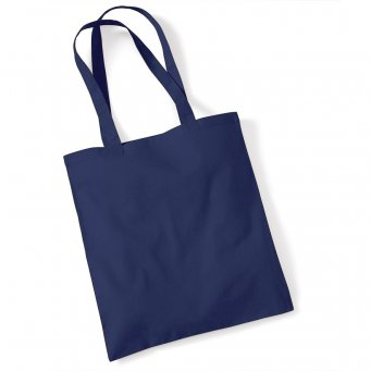 tote bag long handles frenchnavy