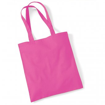 tote bag long handles fuchsia