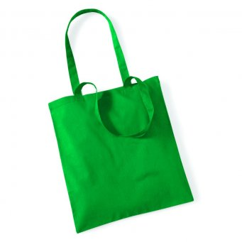 tote bag long handles kelly green