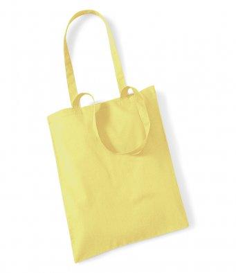 tote bag long handles lemon