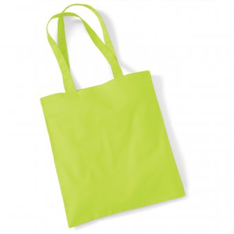 tote bag long handles lime
