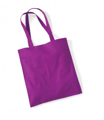 tote bag long handles magenta