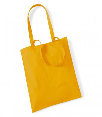 tote bag long handles mustard