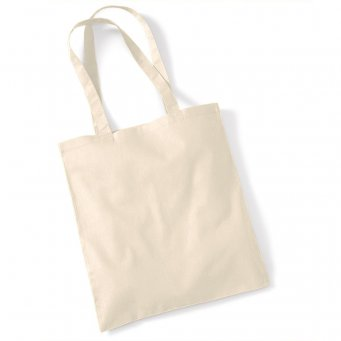 tote bag long handles natural