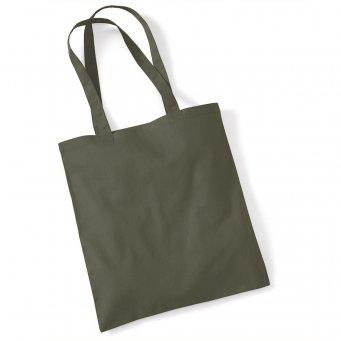 tote bag long handles olive