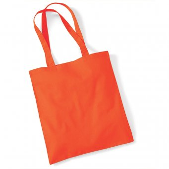tote bag long handles orange