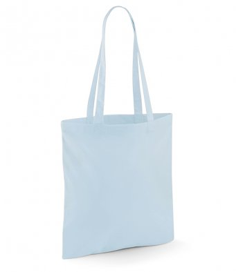 tote bag long handles pastelblue