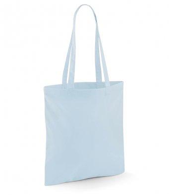 tote bag long handles pastelblue