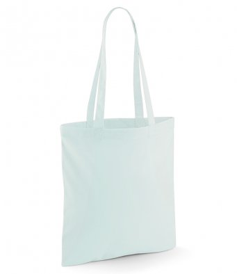 tote bag long handles pastelmint