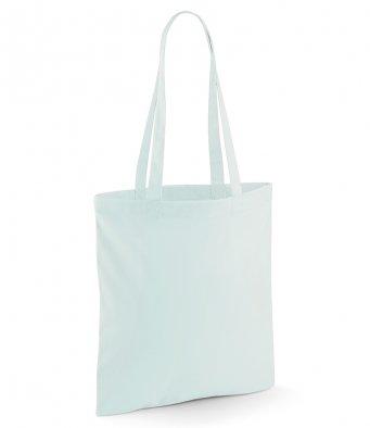 tote bag long handles pastelmint