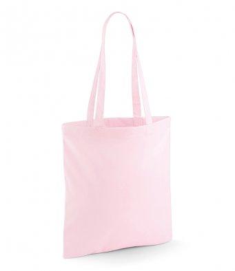 tote bag long handles pastelpink