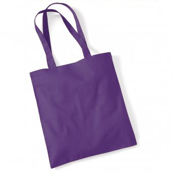 tote bag long handles purple