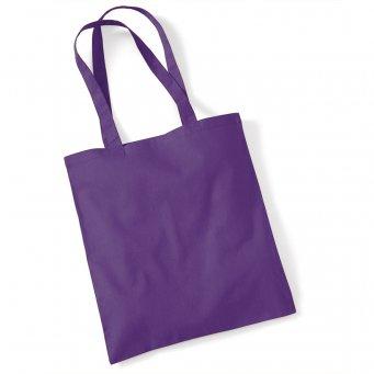 tote bag long handles purple