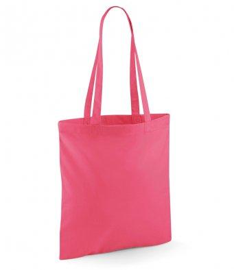 tote bag long handles raspberry