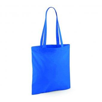 tote bag long handles sapphireblue