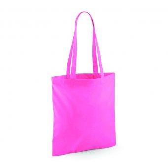tote bag long handles truepink