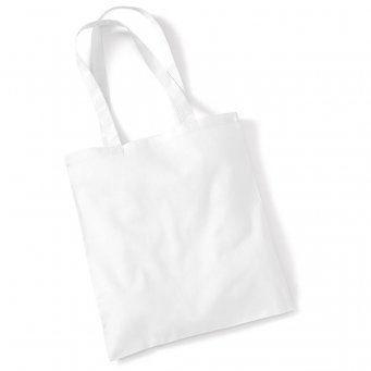 tote bag long handles white