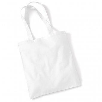 tote bag long handles white
