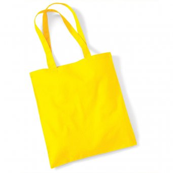 tote bag long handles yellow