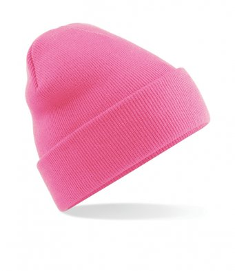 true pink cuffed beanie