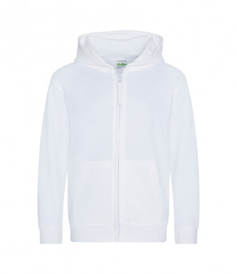 white childrens zipped hoodie