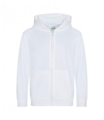 white childrens zipped hoodie