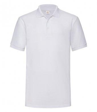 white heavy duty polo shirt