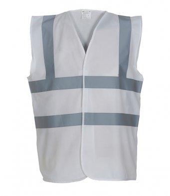 white hi vis vest