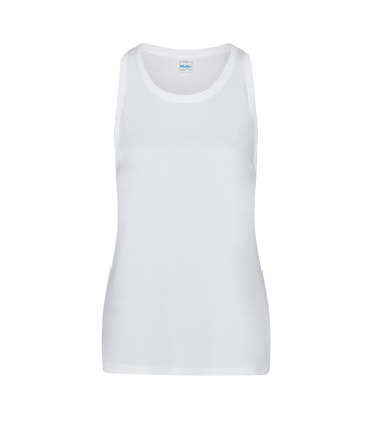 white ladies sports vest