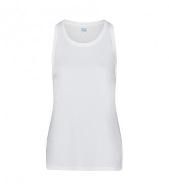 white ladies sports vest