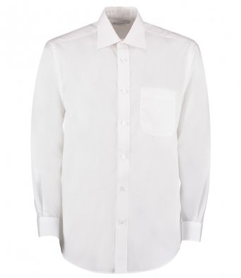 white long sleeve business shirt