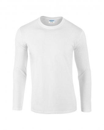 white long sleeve cotton t shirt
