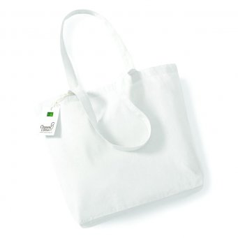white organic cotton shopper tote bag