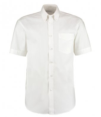 white oxford short sleeve shirt