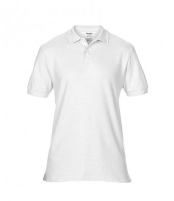 white premium cotton polo shirt
